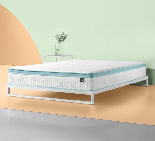 Mint Green Foam Hybrid Spring Queen Mattress