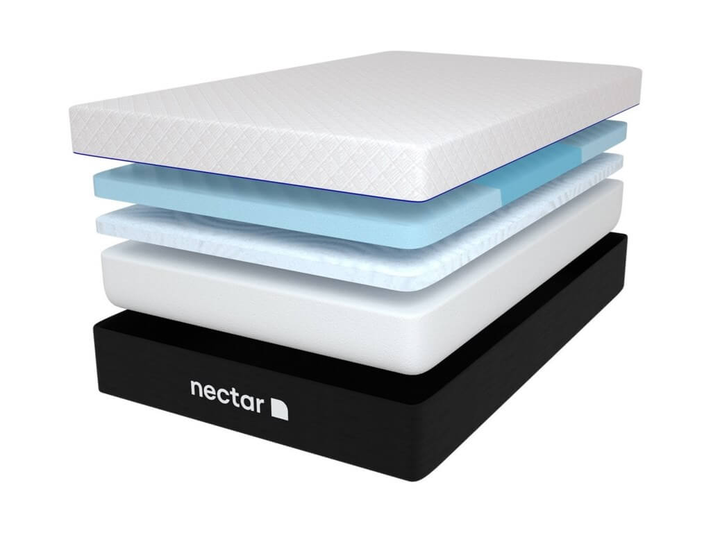 Interior layers of the 12 inch Nectar Lush mattress.