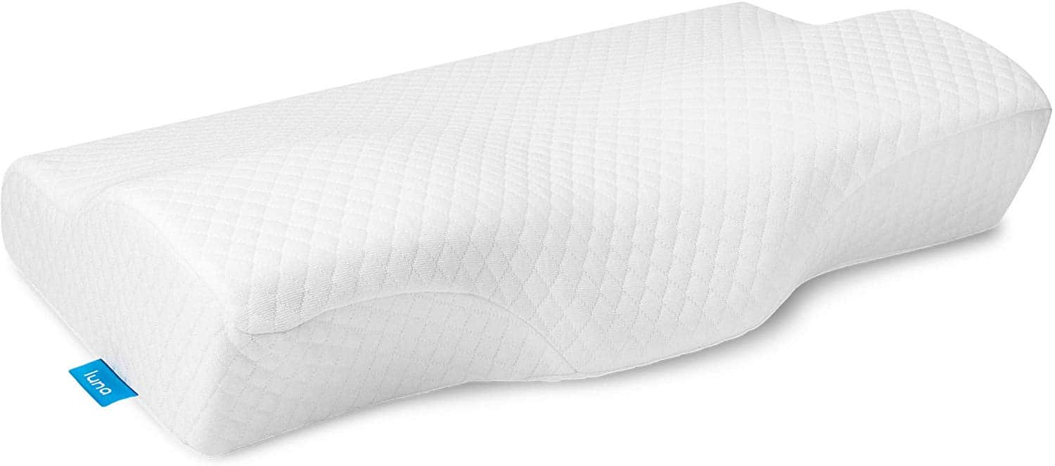 LUNA Contour Gel Memory Foam Pillow Orthopedic Sleeping – Ergonomic Cooling Cervical Pillow for Neck – Side, Back and Stomach Sleepers, (Firm & Standard Size) – CertiPUR-US Certified & USA Designed
