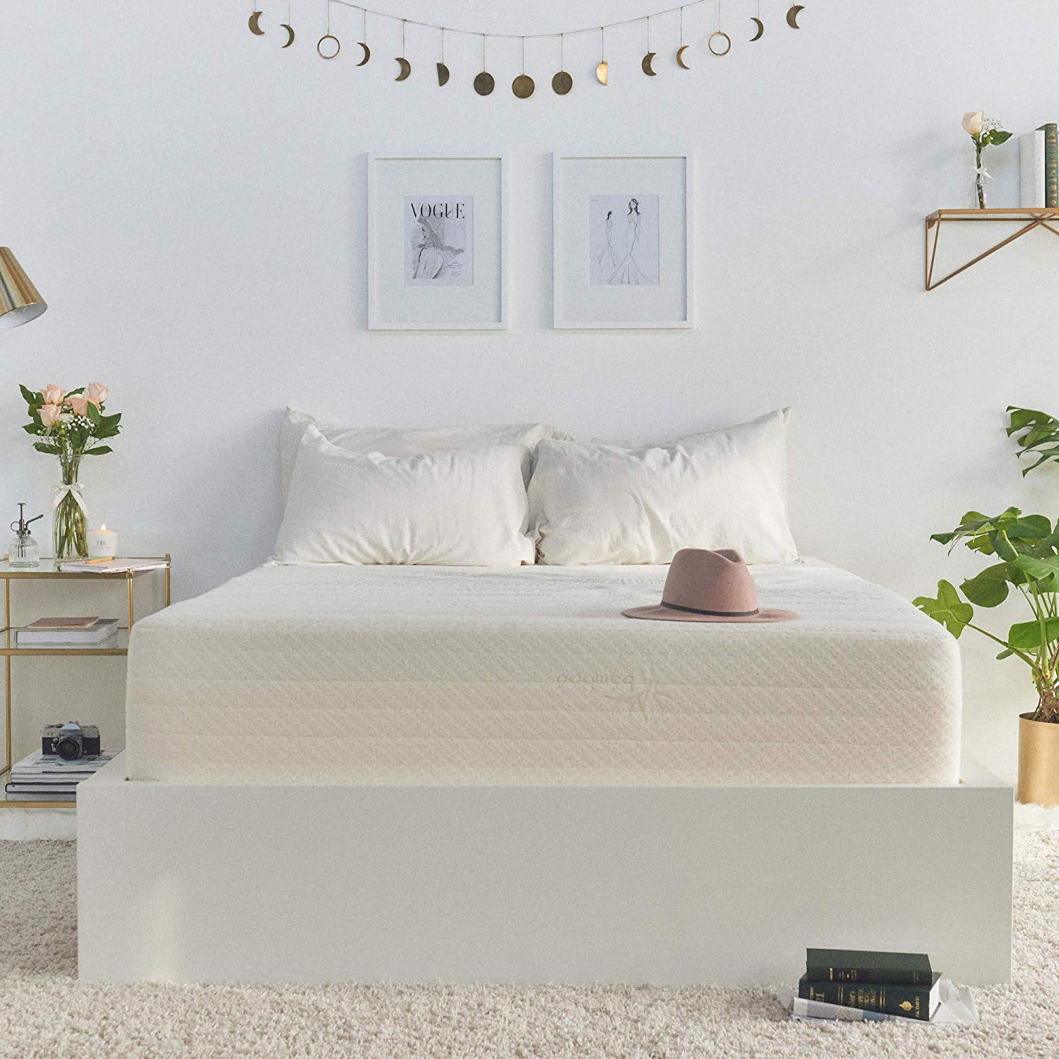 Brentwood Home Cypress Mattress, Bamboo Derived Rayon Cover, Gel Memory Foam, Made in USA, 9-Inch, Twin