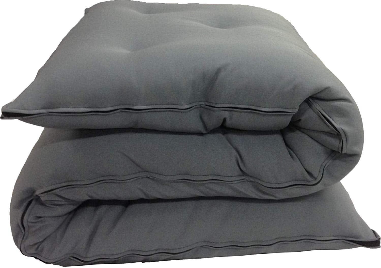D&D Futon Furniture Gray Full Size Traditional Japanese Floor Futon Mattresses, Foldable Cushion Mats, Yoga, Meditation 3 x 54 X 80