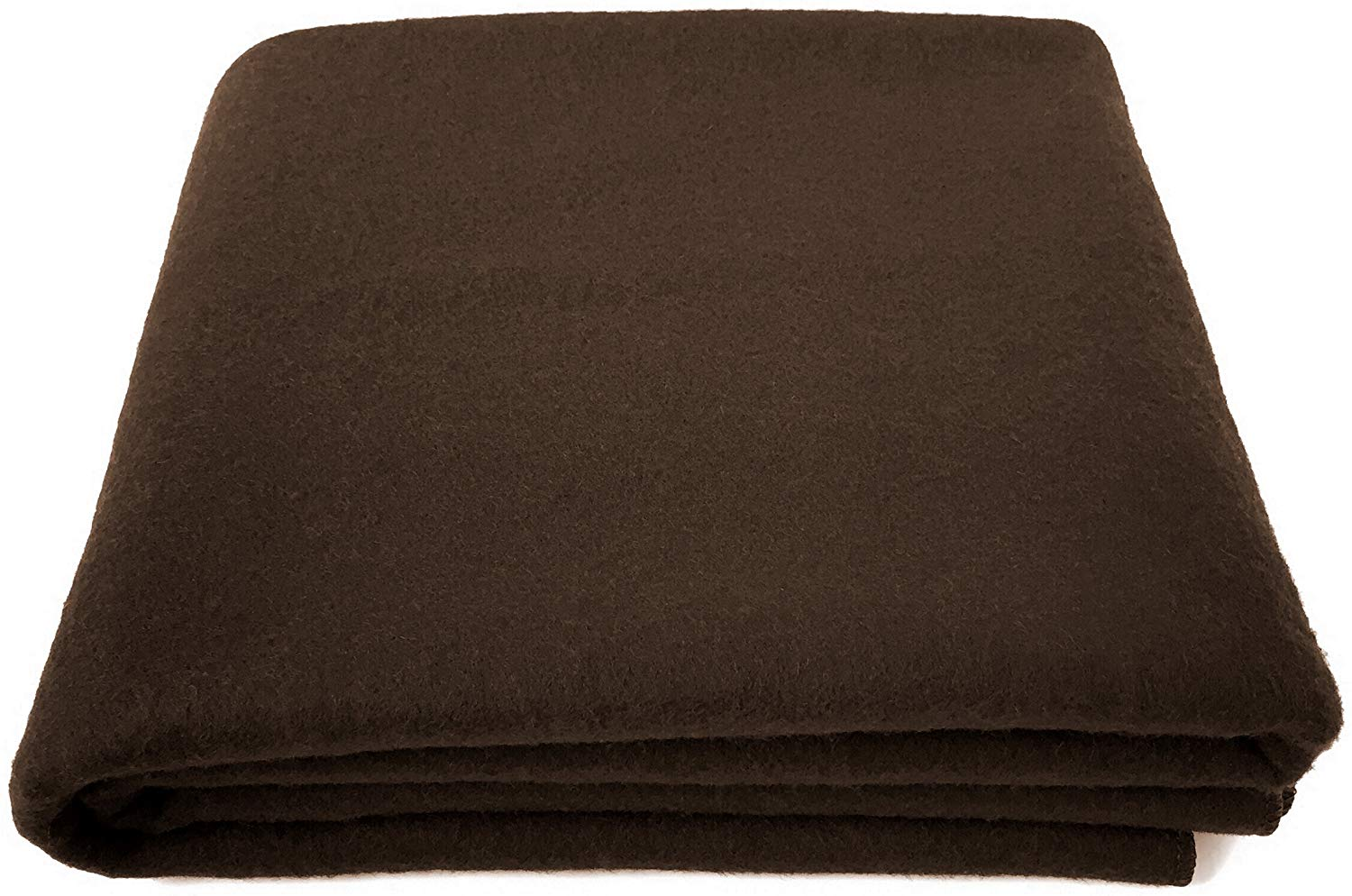 """EKTOS 80% Wool Blanket, Brown, Light & Warm 3.7 lbs, Large Washable 66""""x90"""" Size, Perfect for Outdoor Camping, Survival & Emergency Preparedness Use"""