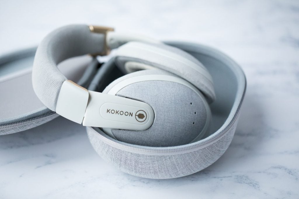 A gray pair of Kokoon headphones.