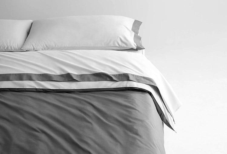 Casper Sleep Soft and Durable Supima Cotton Sheet Set, Full, White/Slate