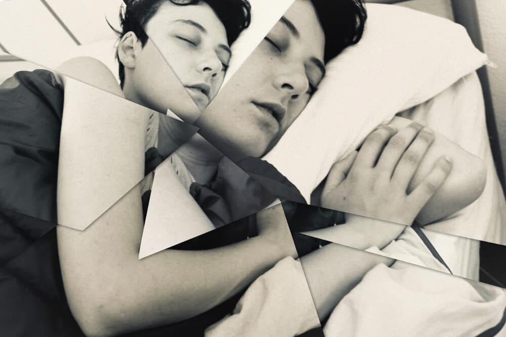 Insomnia. Picture illustrating the abstract concept of sleeping disorders. Collage.