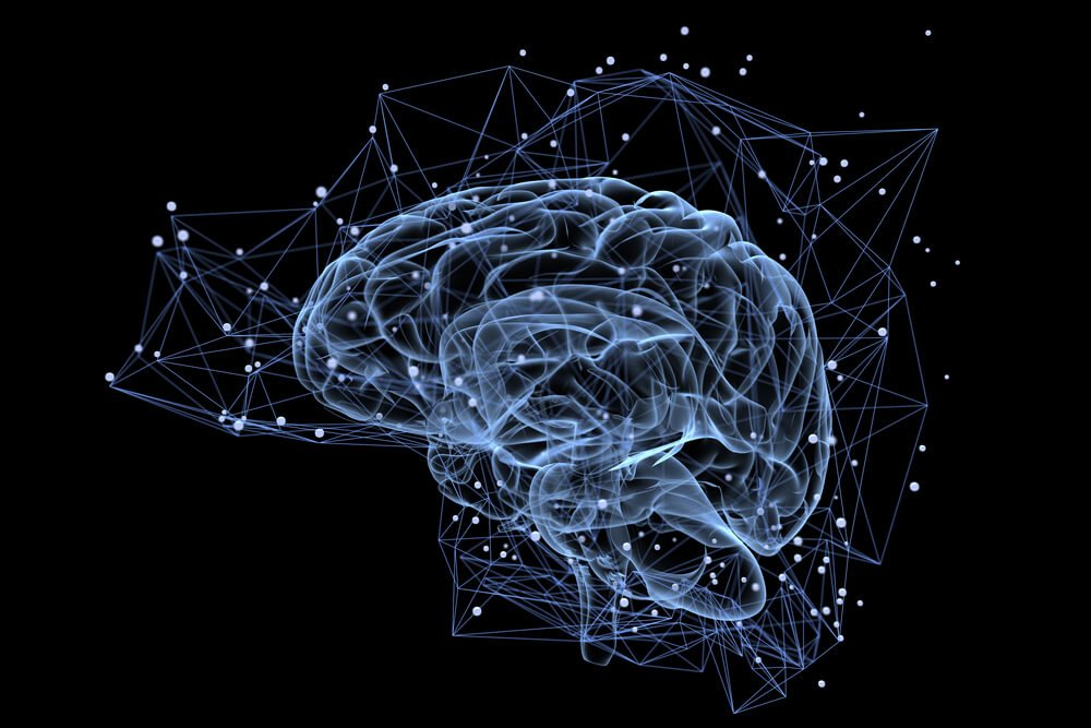 Illustration of the thought processes in the brain