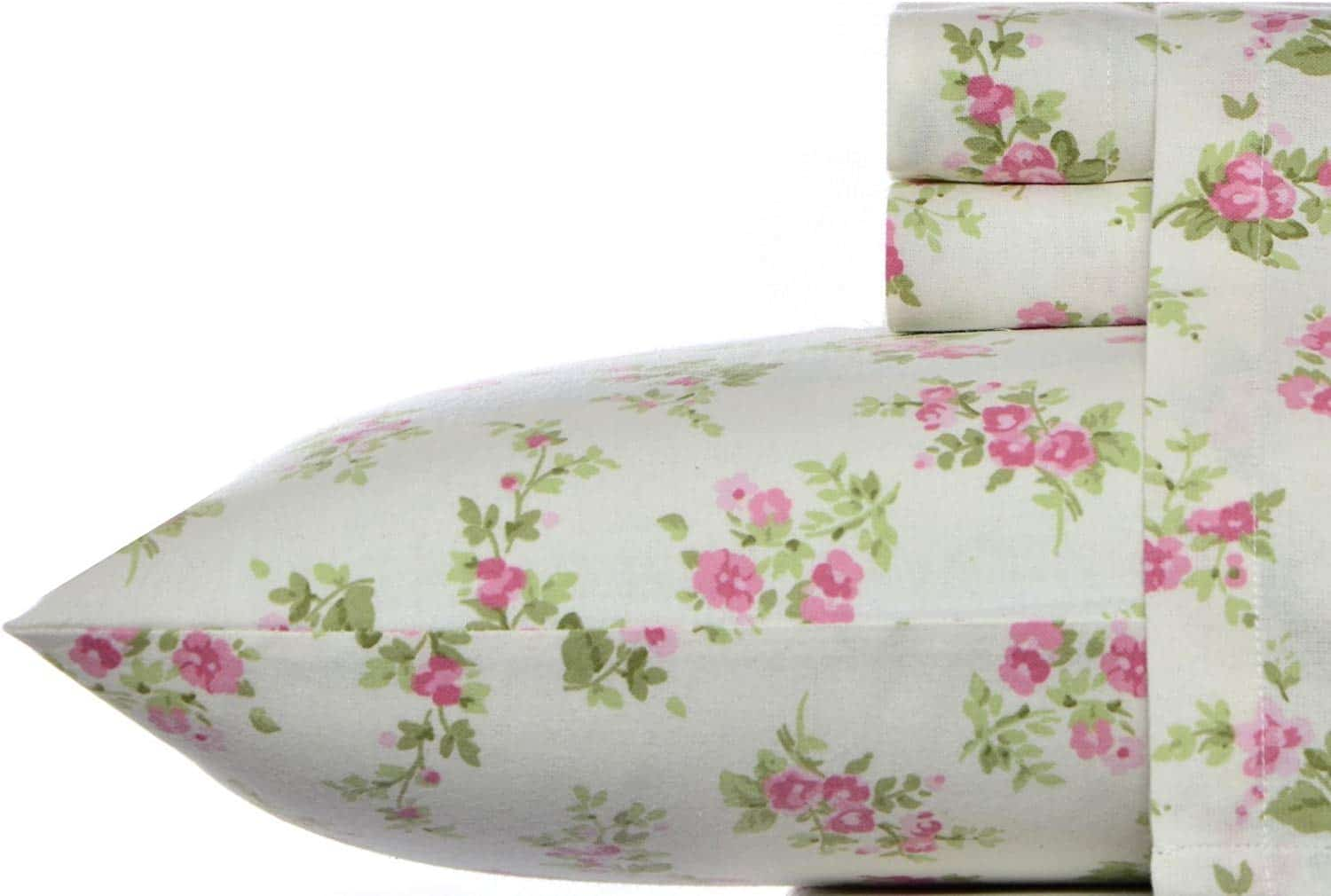 Laura Ashley Flannel Sheet Set, Queen, Audrey