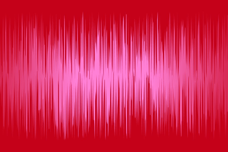 Background wallpaper, image of sound noise, earthquake wave