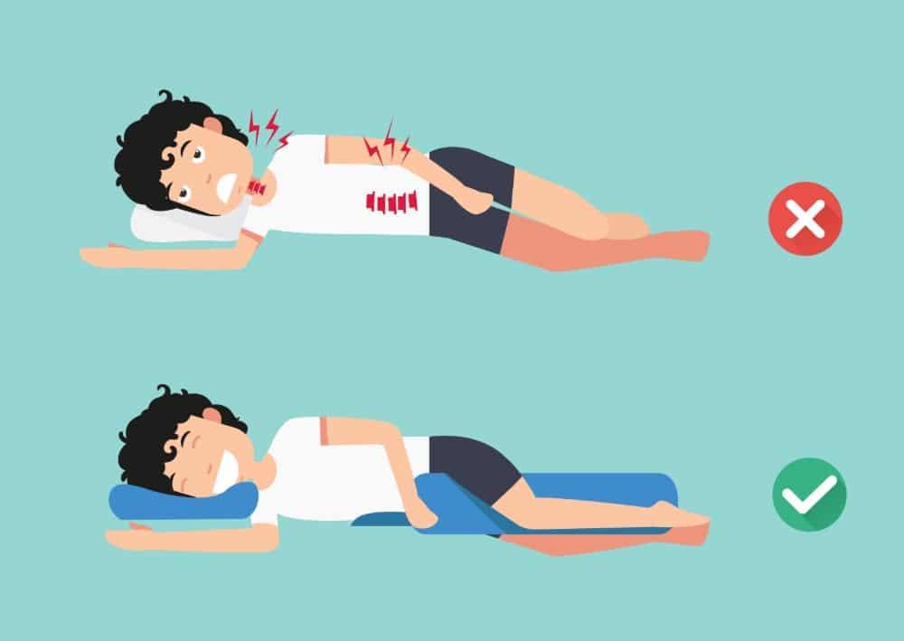 correct stomach sleep pillow