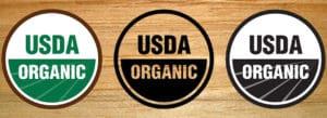 USDA organic seals
