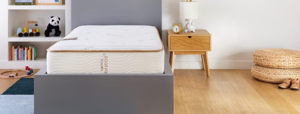 Saatva Youth Mattress in a Child's Bedroom