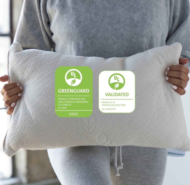 avocado toddler pillow