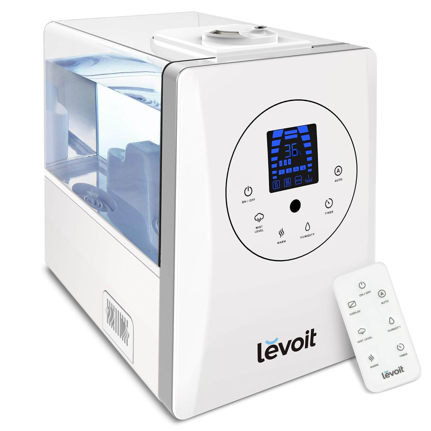 LEVOIT Humidifiers for Large Room Bedroom (6L), Warm and Cool Mist Ultrasonic Air Humidifier for Home Whole House Babies Room, Customized Humidity, Remote, Germ Free and Whisper-Quiet