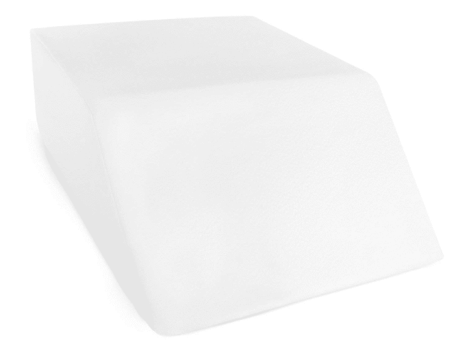 A white wedge pillow