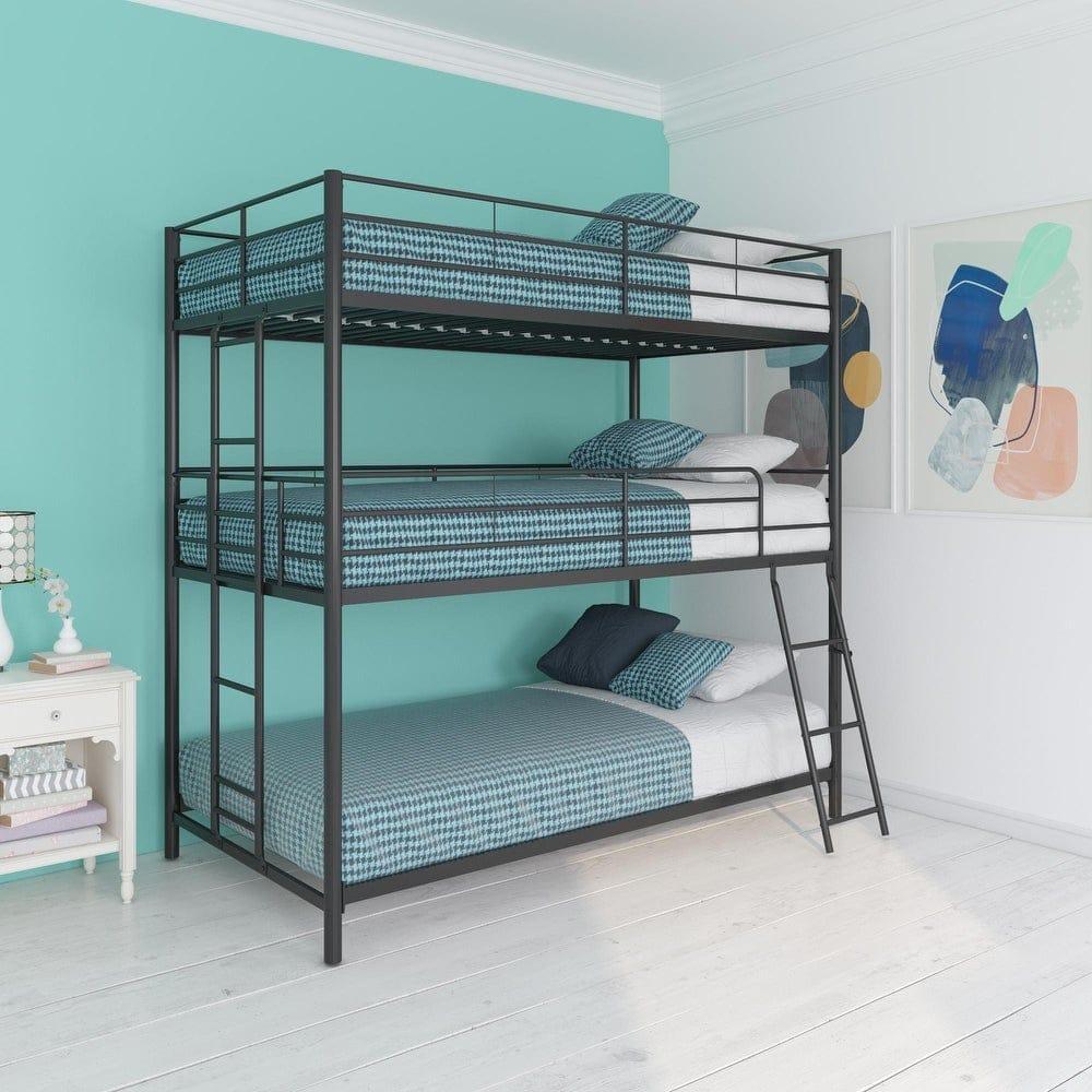 Avenue Greene Quinton Metal Triple Bunk Bed