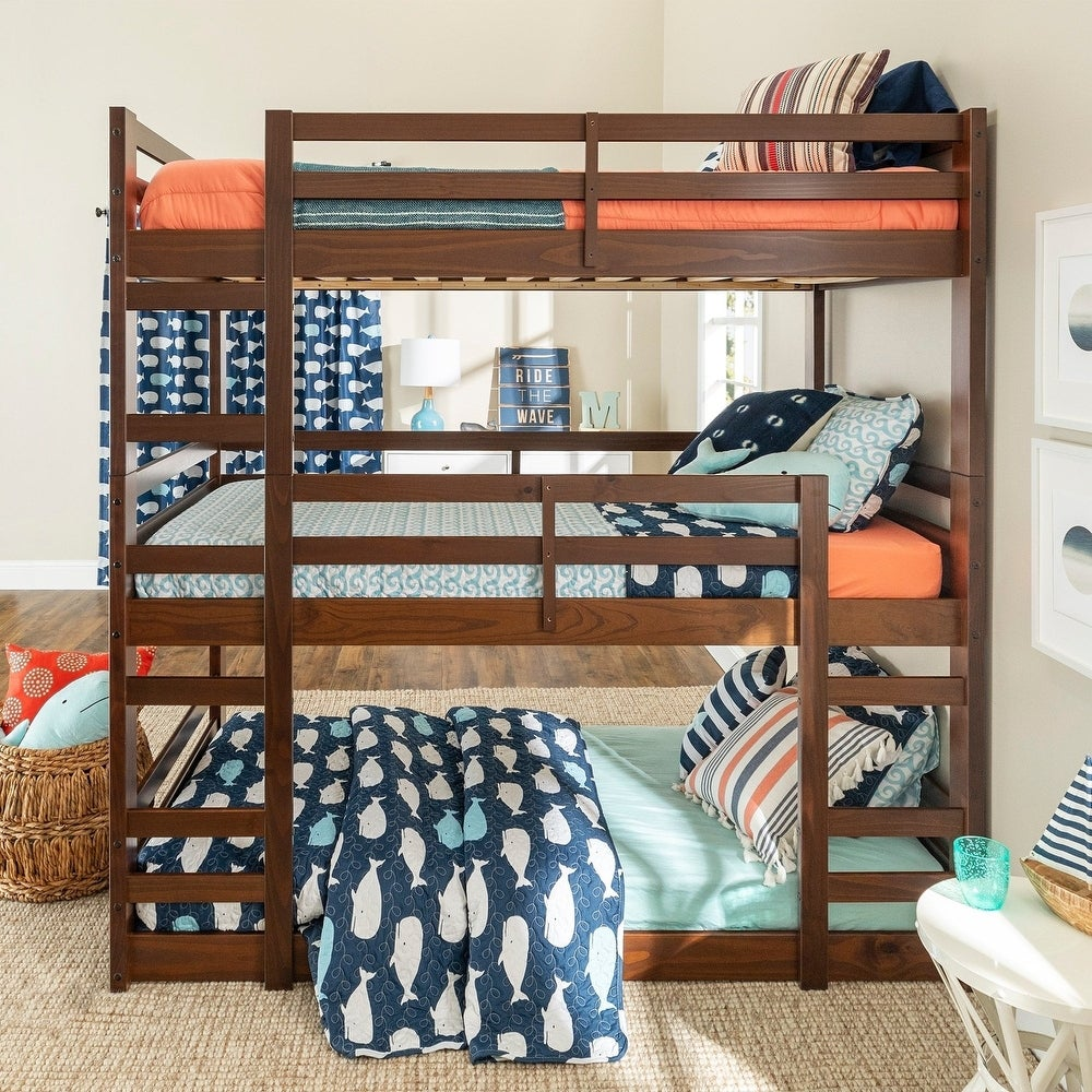 Taylor Olive Browning Twin Triple Bunk Bed