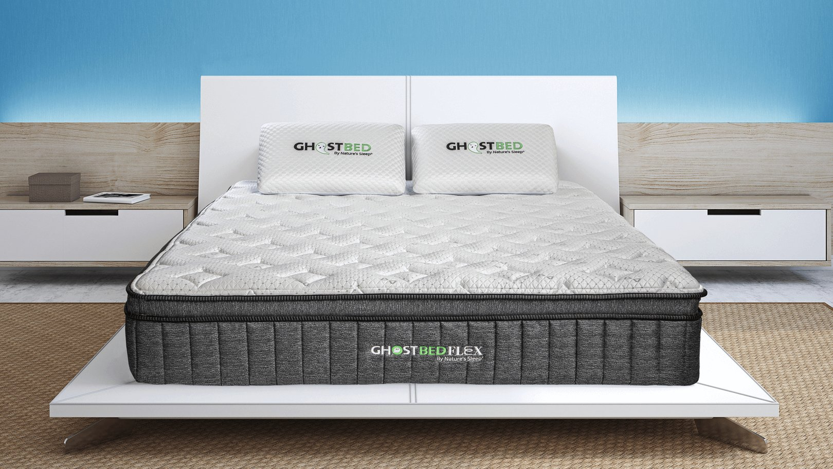 ghostbed flex mattress room setting