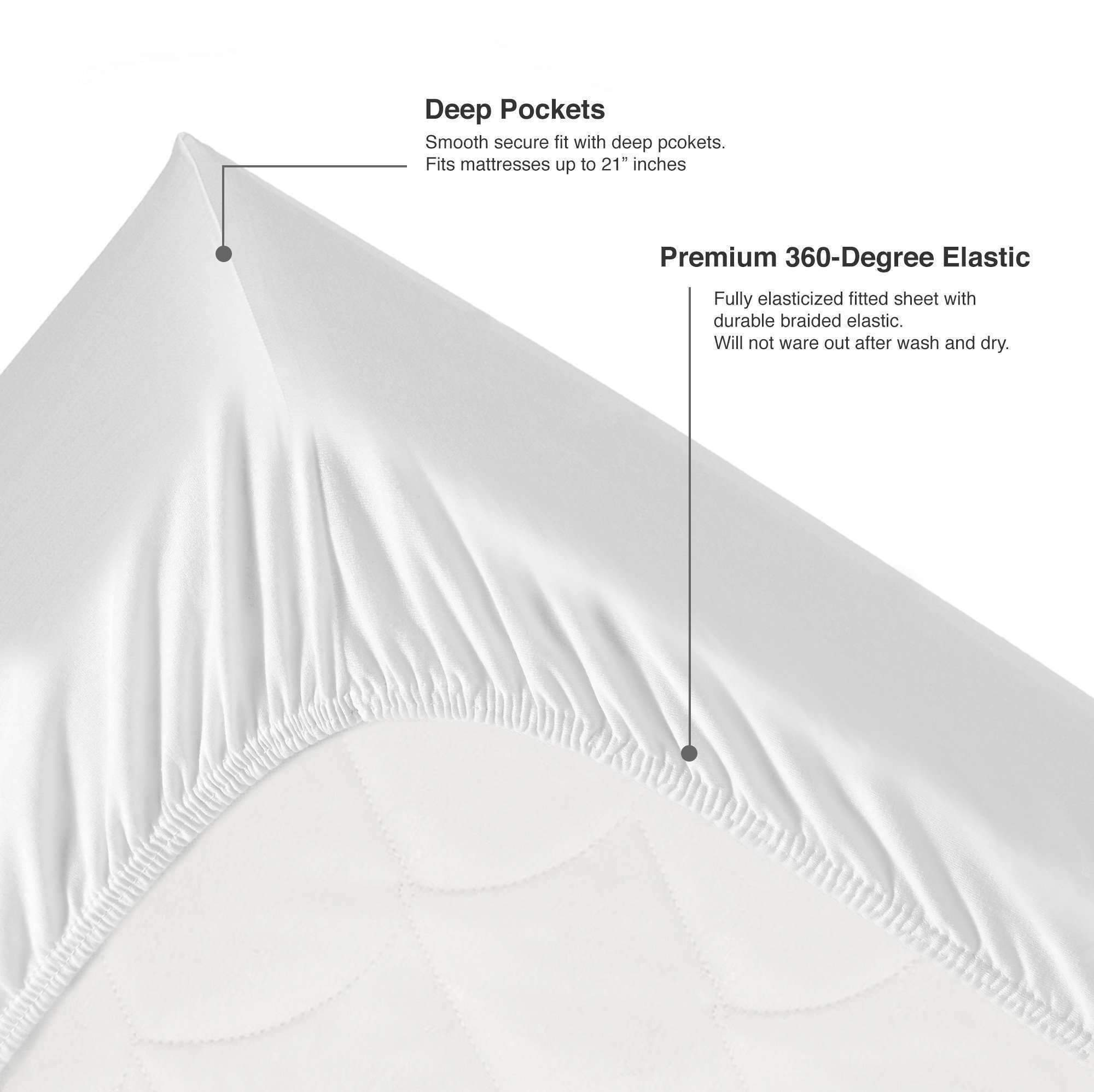 Luxor Linens Deep Pocket