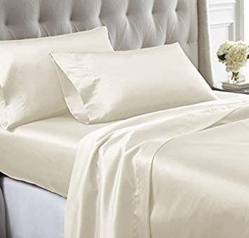 cream silk sheets