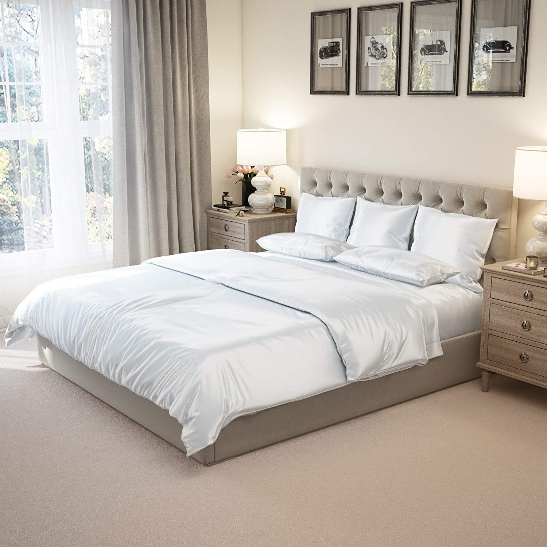 silk sheets and pillows