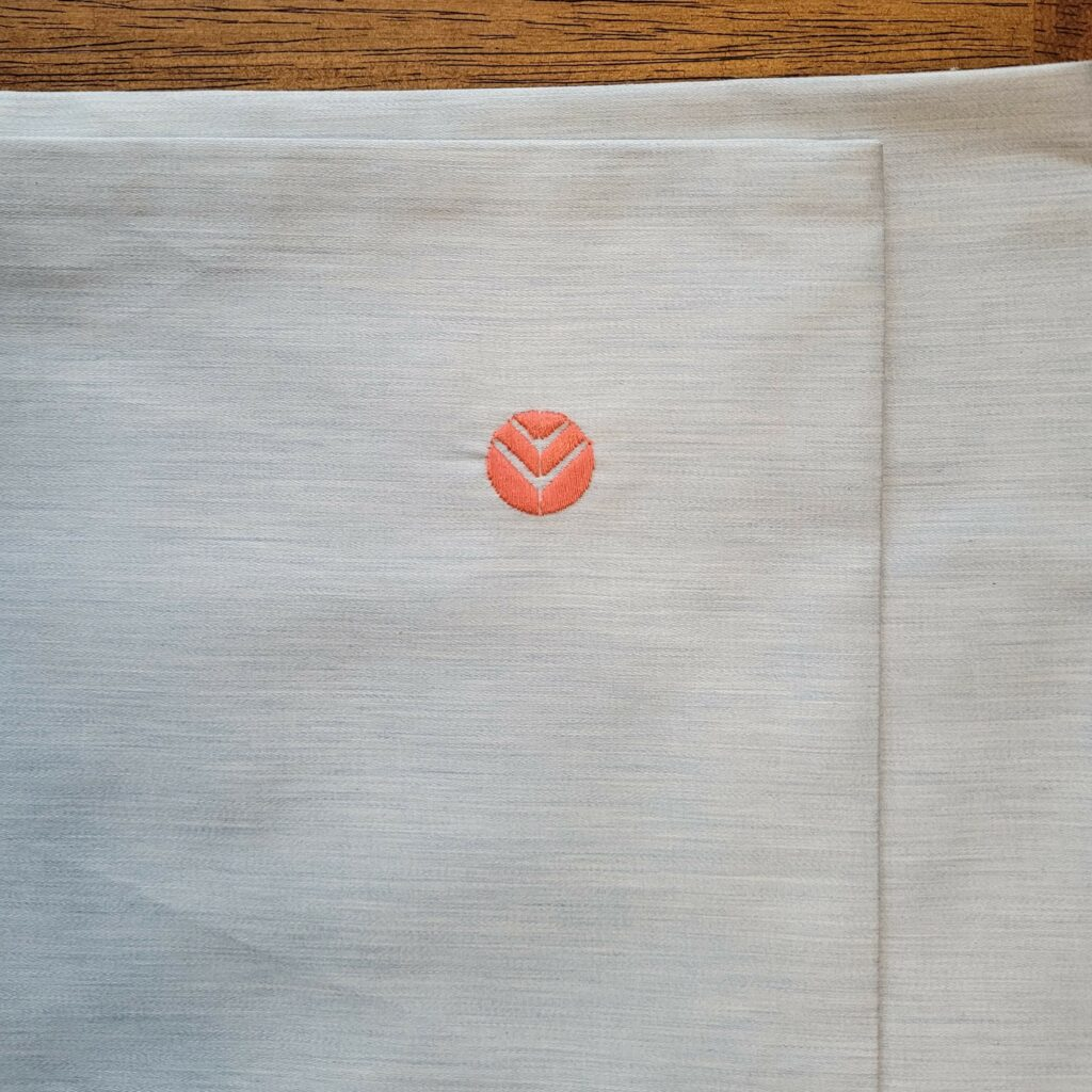 Aizome Bed Sheets Logo Stitched