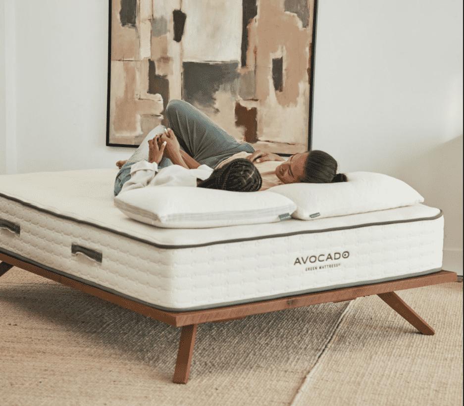 Avocado Mid Century Modern Bed Frame