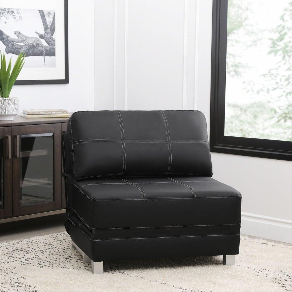 Leather Sleeper Chair
