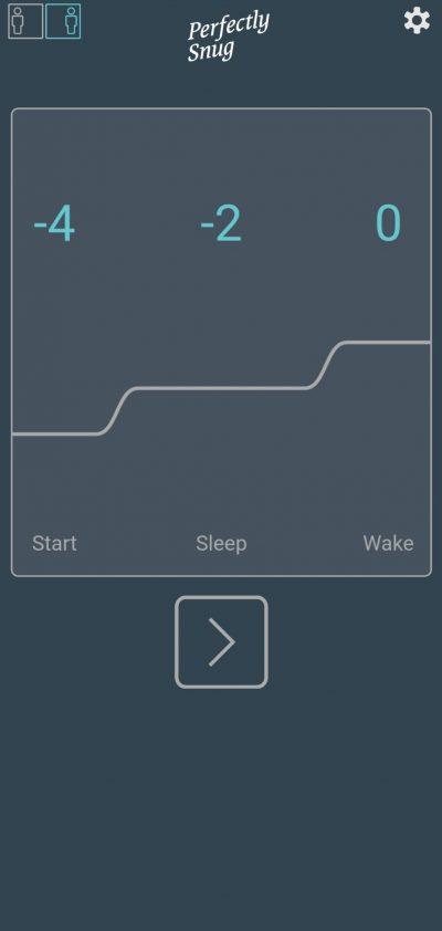 Perfectly Snug Topper App Temperature Settings