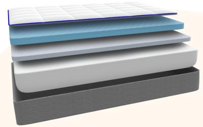 A layered Nectar mattress.
