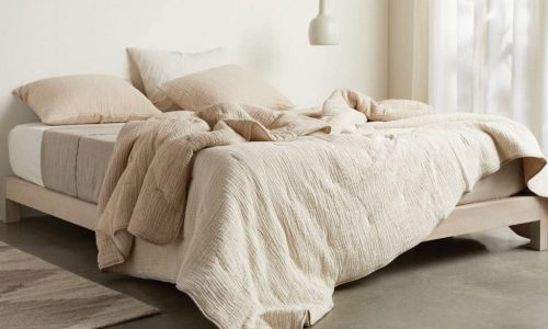 comforter on bed